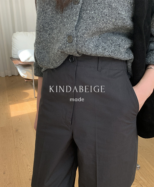 [kindabeige] 안단테 팬츠 (ink grey),kindabeige